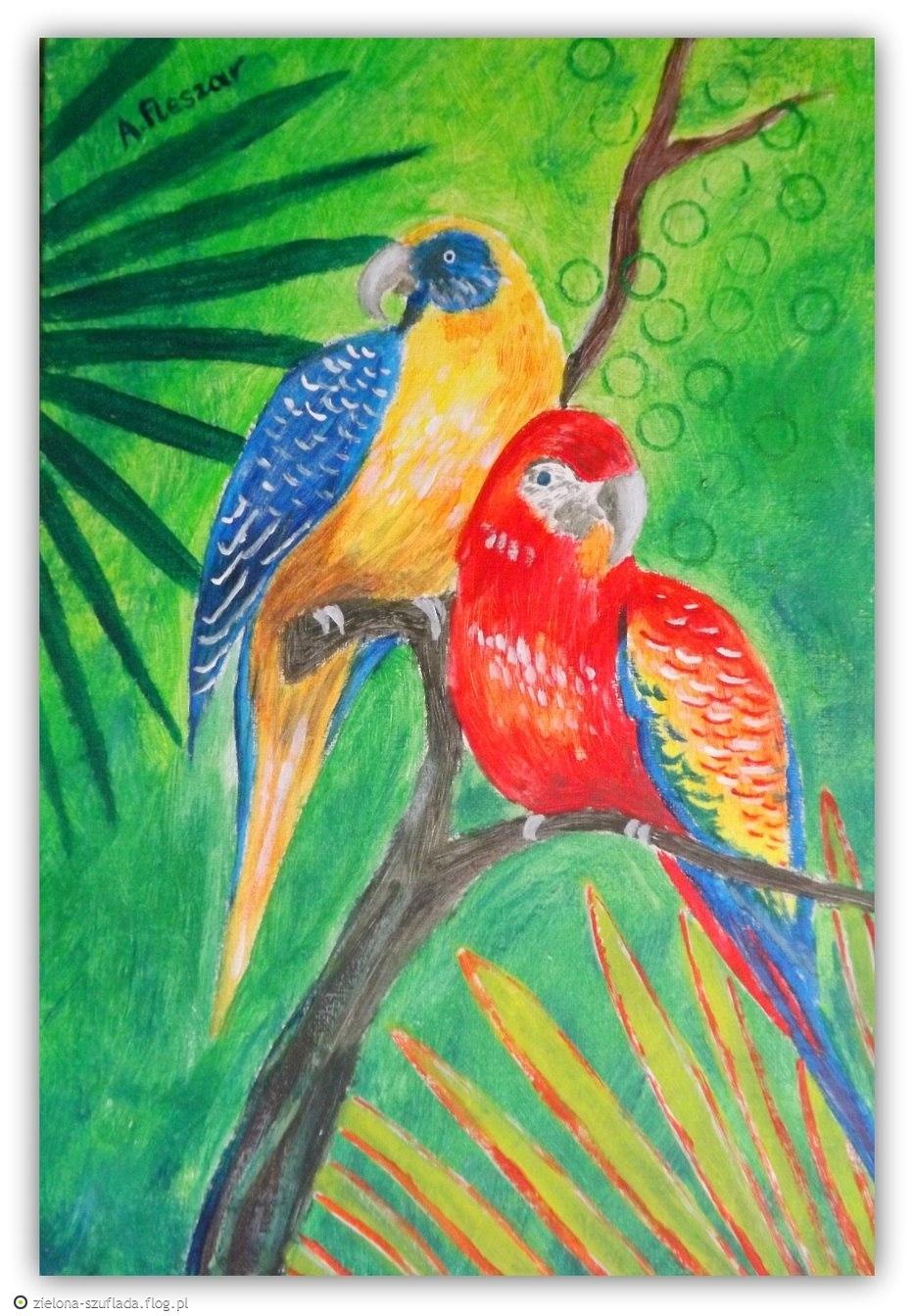 Zasłuchane Papużki - Obrazek